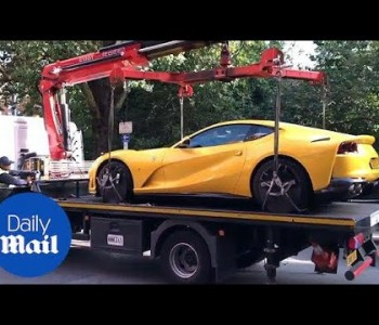 Illegally parked ferrari worth £260,000 towed away in London