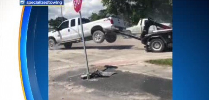 Man Arrested For Trying To Drive Off While Hooked Up To Tow Truck