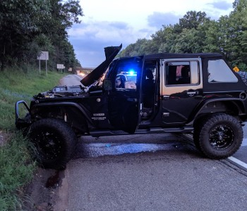 WATCH: Runaway tire jumps N.J. highway median, smashes into Jeep driven by a cop